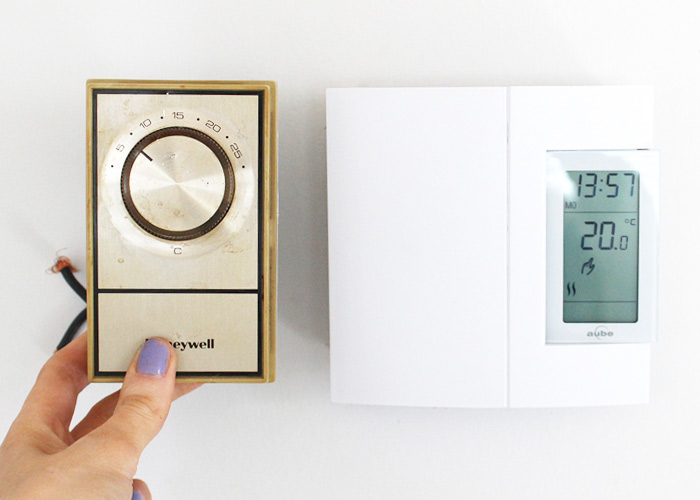 Do It Herself: How To Replace a Thermostat (Analog to Digital)