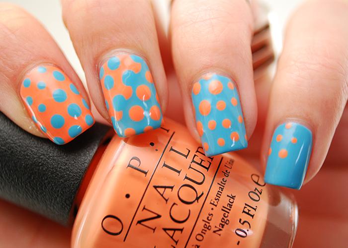 Pastel Polka Dots Nail Art Tutorial
