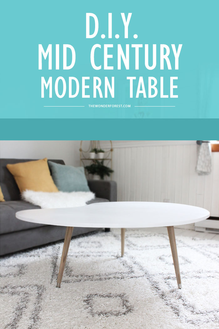 DIY Mid Century Modern Coffee Table Under 50 Wonder Forest
