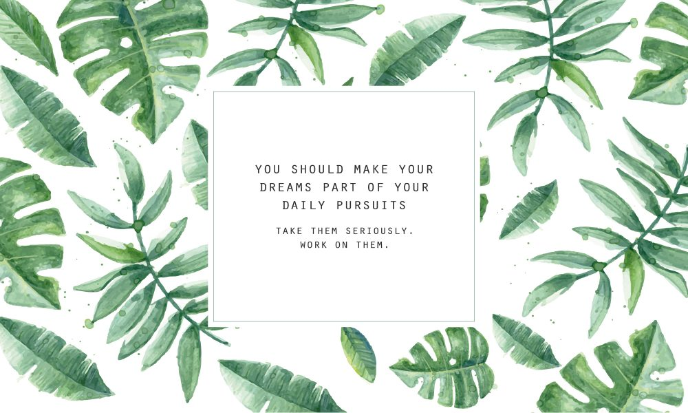 14 Make Your Dreams Part Of Daily Pursuits