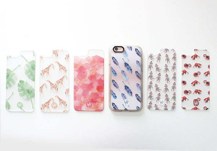 Hand Painted Watercolour Phone Cases for Spring