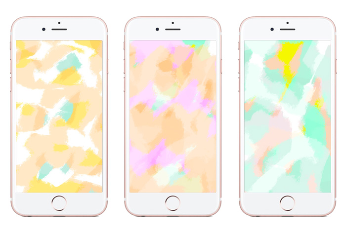Tech Tuesday: Pastel Paint Phone Background