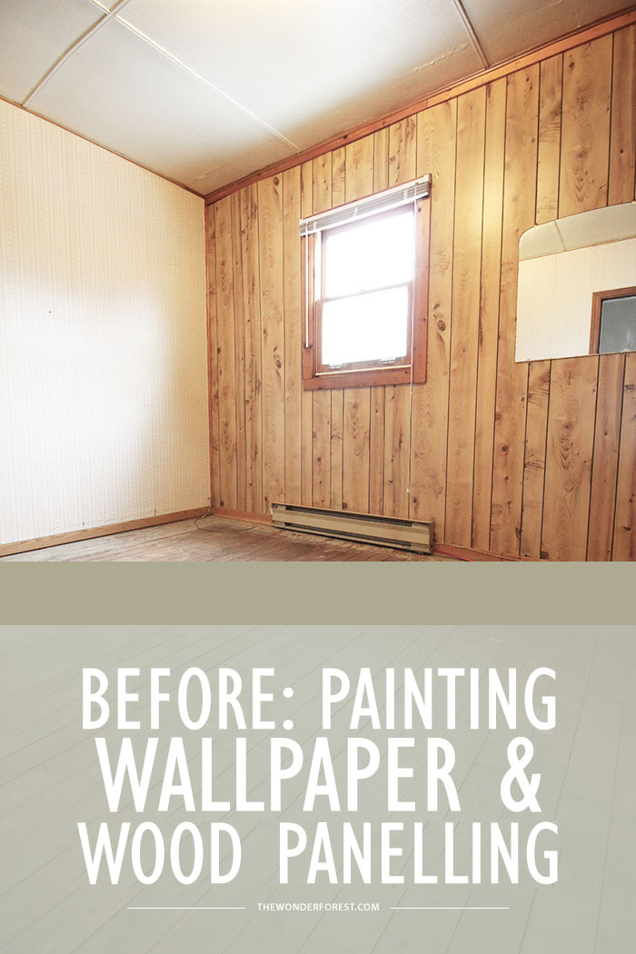 Painting Wallpaper and Wood Paneling