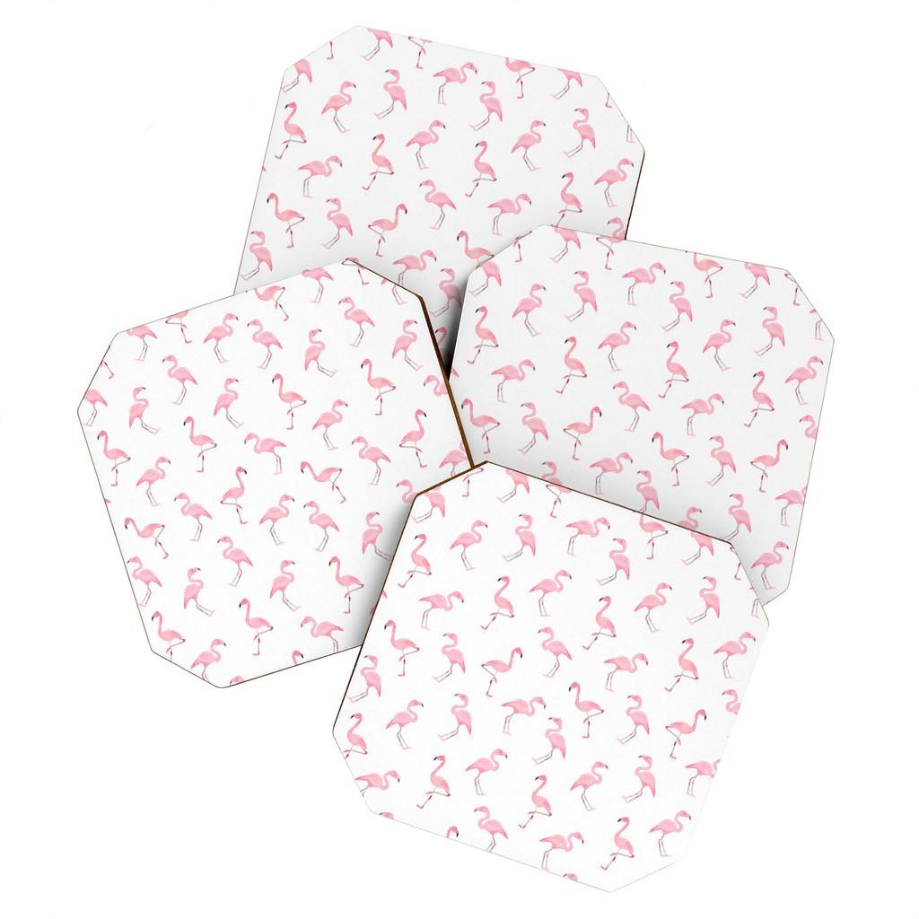 Wonder Forest Fantastic Flamingos Coaster Set