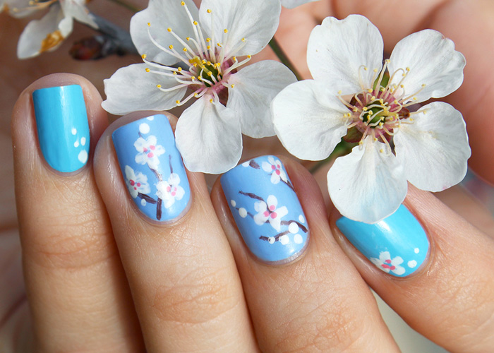 Cherry Blossom Nail Art Tutorial - Wonder Forest