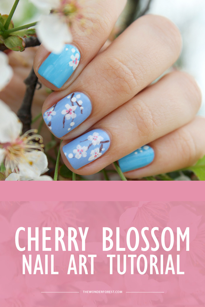 - Cherry Blossom Nail Art Tutorial - Wonder Forest