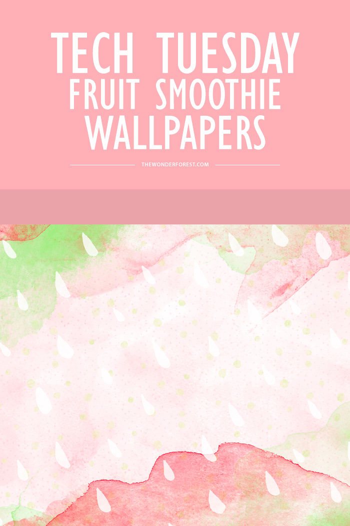 Tech Tuesday: Fruit Smoothie Wallpapers