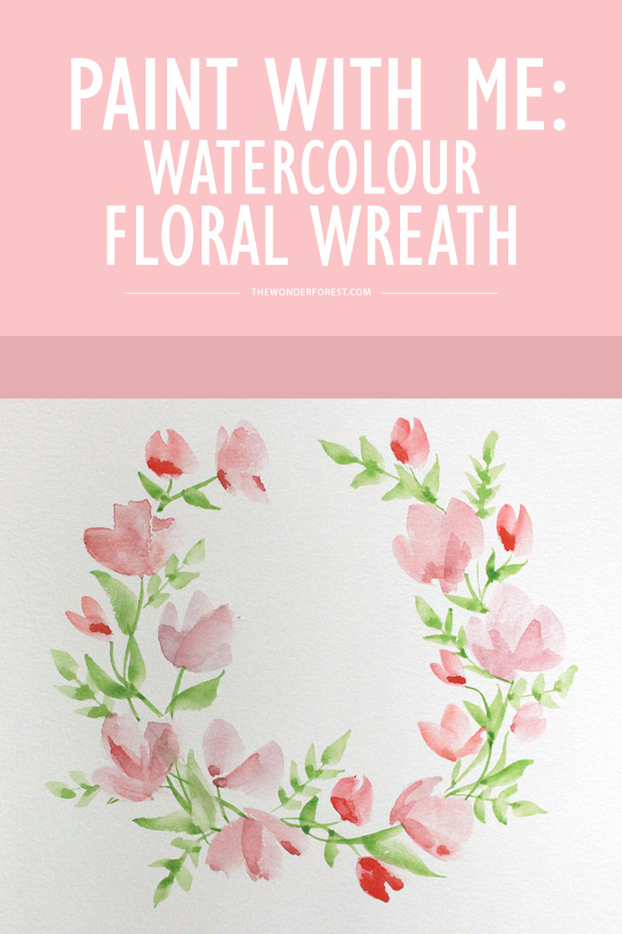 Watercolor Floral Wreath Tutorial