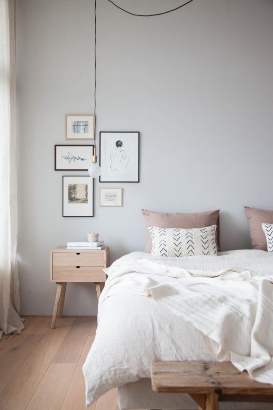 Modern airy bedroom makeover