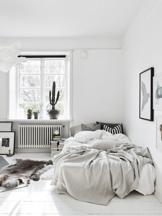 Lovely monochrome bedroom