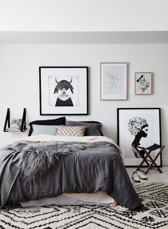 Modern Monochrome Nordic Bedroom