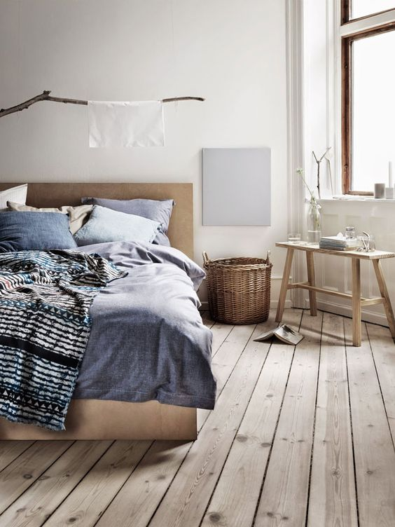 Rustic nordic bedroom