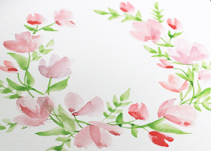 Paint With Me: Watercolour Floral Wreath Tutorial for Beginners