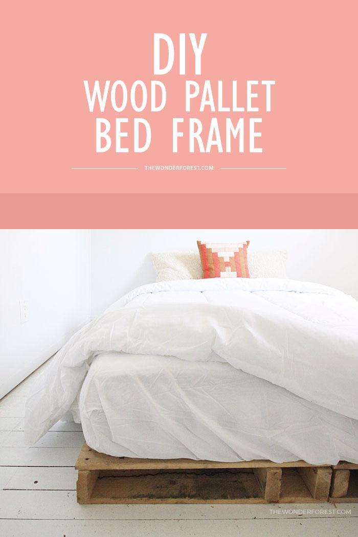 DIY Wood Pallet Bed Frame