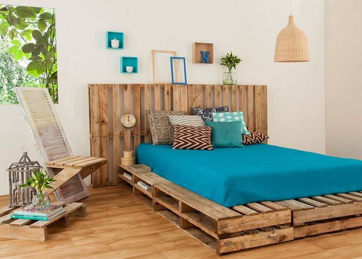 wood pallet bed idea
