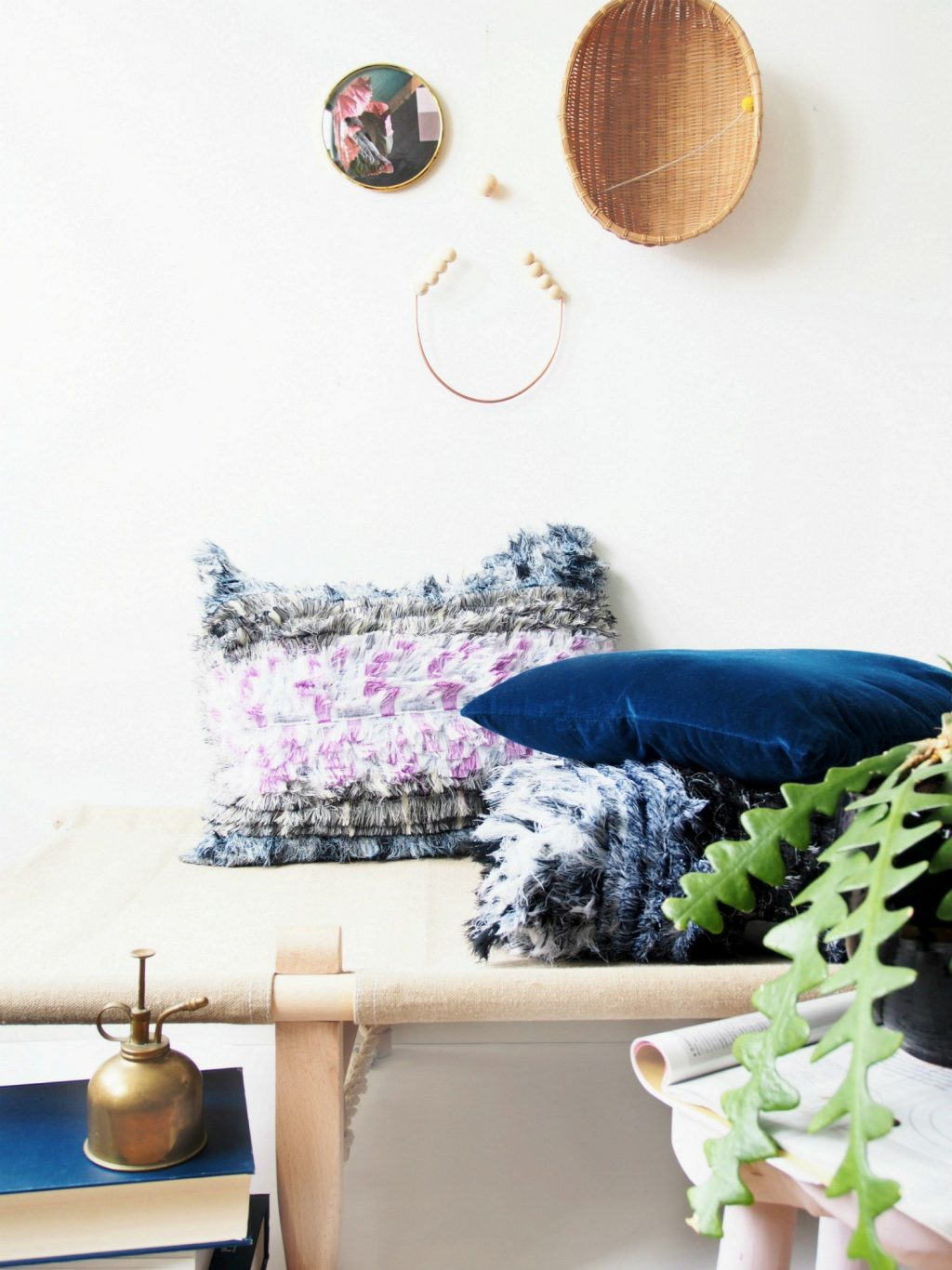 DIY Boho No Sew Pillow