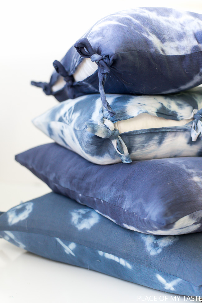 Shibori Tie Dye Pillows