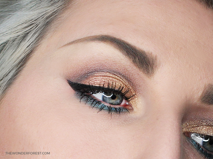 Summer Bronze and Teal Makeup Look with Spider Lashes