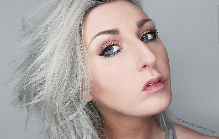 Summer Bronze and Teal Makeup Look