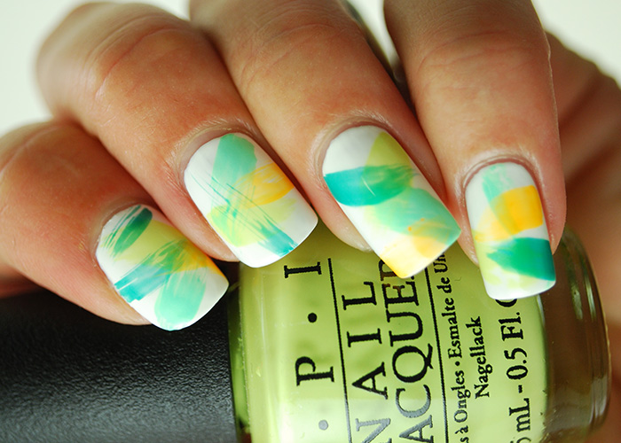 Beach Day Dry Brush Nail Art Tutorial
