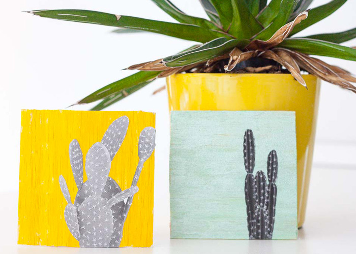 DIY: Quick & Cute Cacti Wall Art