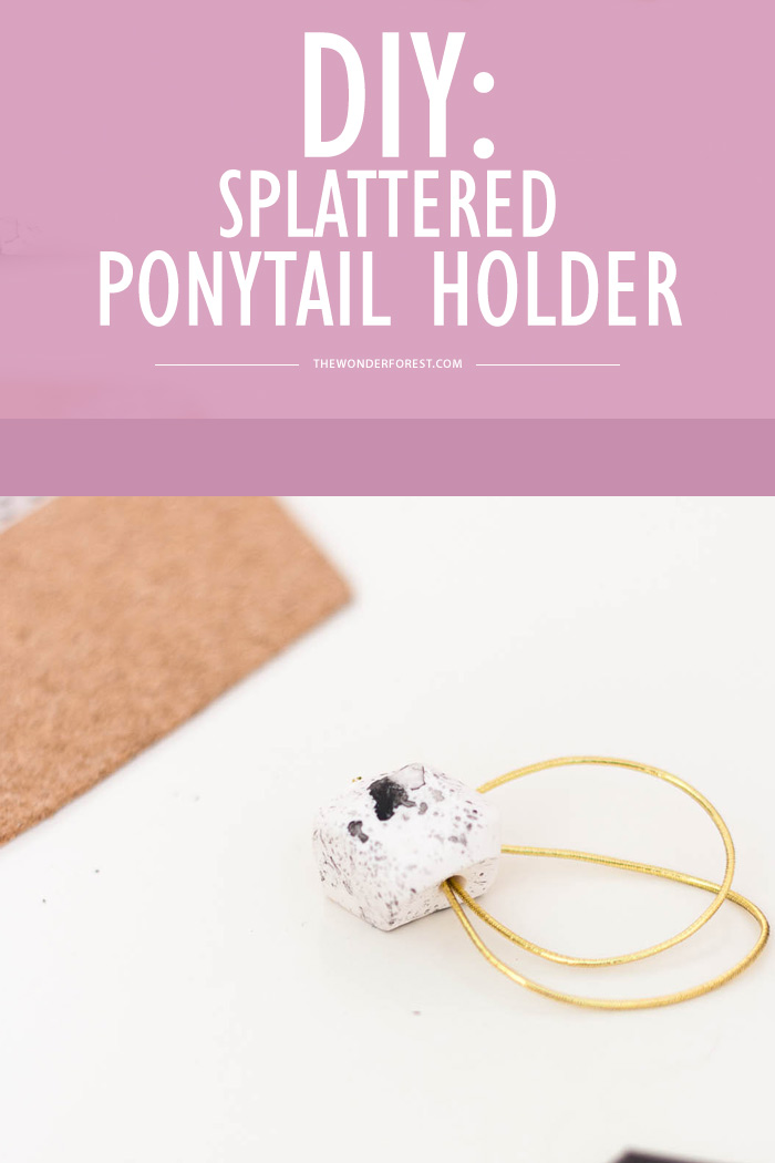 DIY: Splattered Ponytail Holder