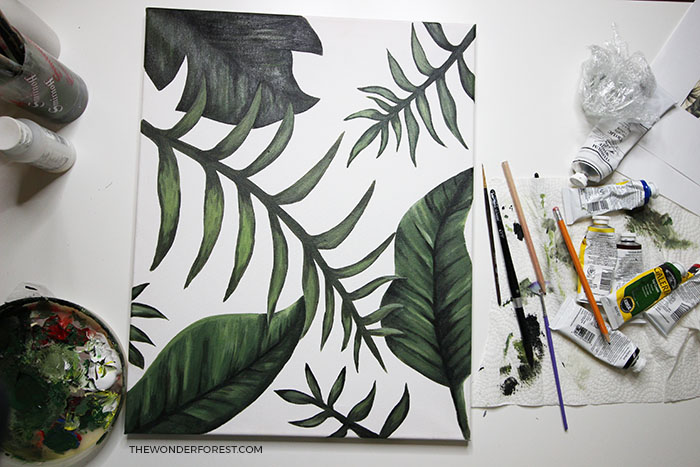 How To Paint Palm Leaves