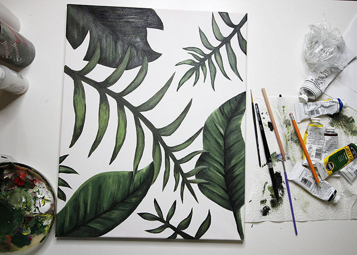 How To Paint Palm Leaves – Speed Painting in Acrylics