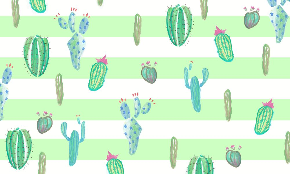 cacti party with stripes