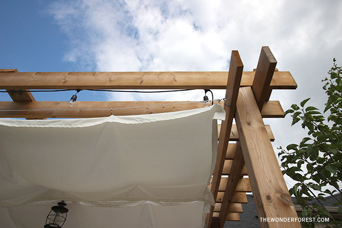 How to make a canopy for pergola shade
