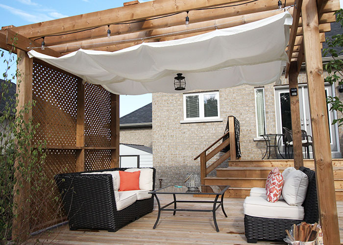 DIY: Retractable Pergola Canopy Tutorial   Wonder Forest