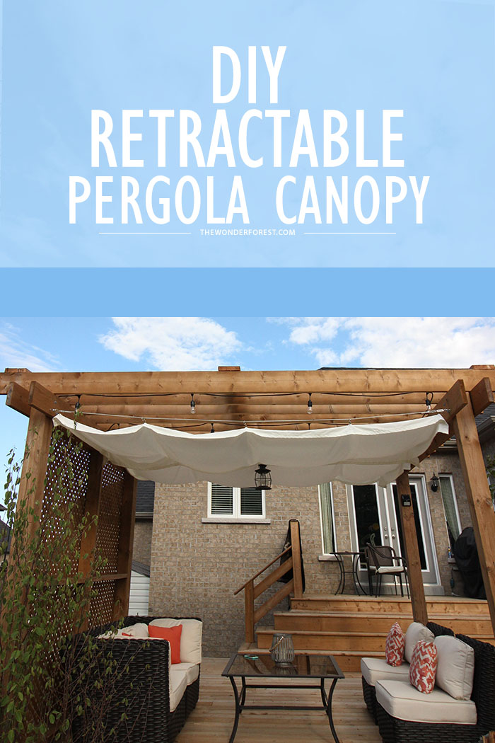 Diy Retractable Pergola Canopy Tutorial Wonder Forest