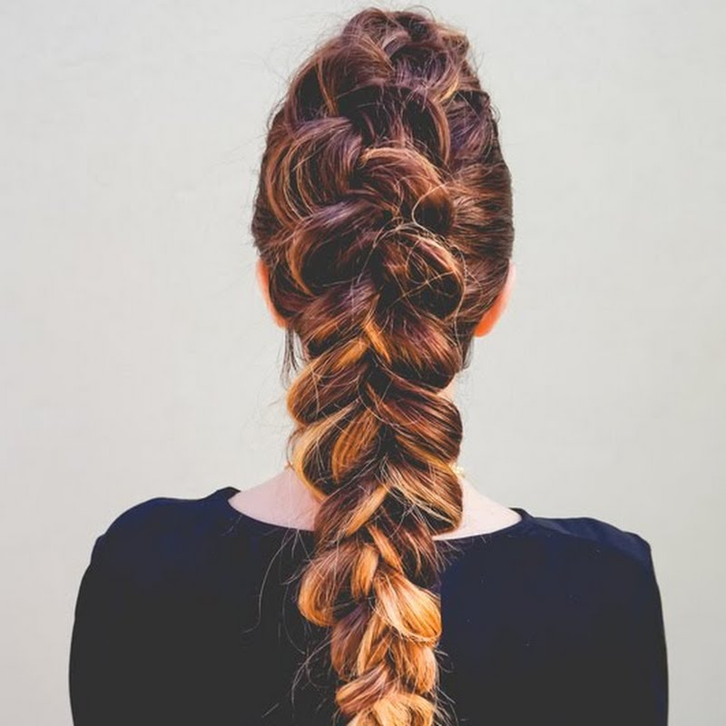 Dutch braid faux hawk