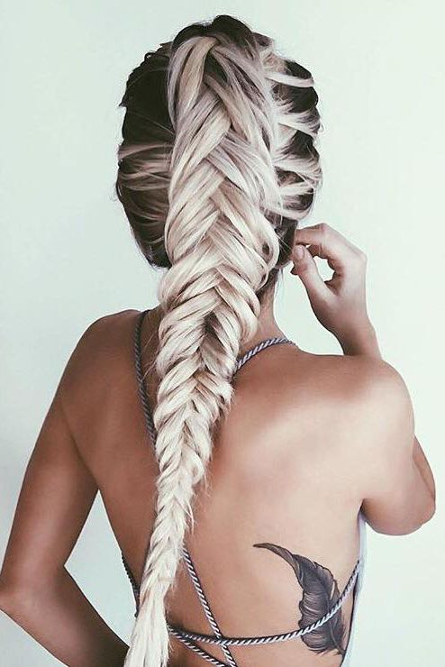Faux hawk french fishtail braid