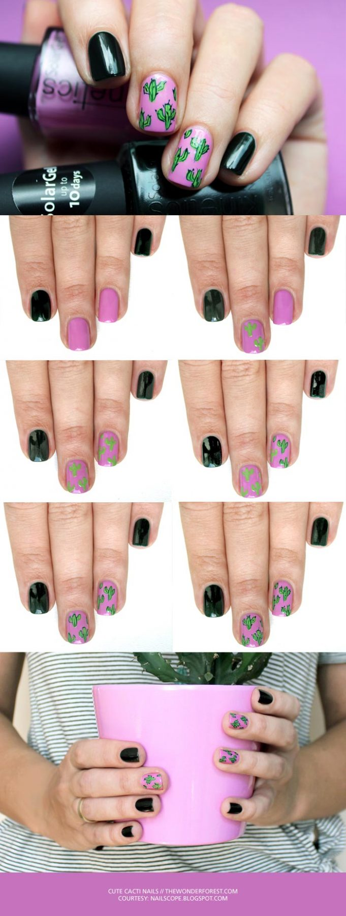 Cute Cacti Nail Art Tutorial