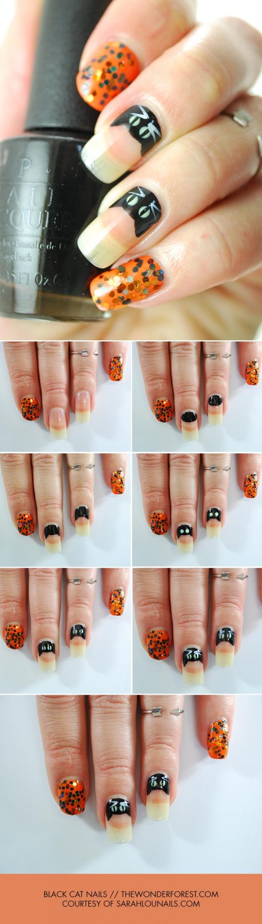Black Cat Nail Art Tutorial