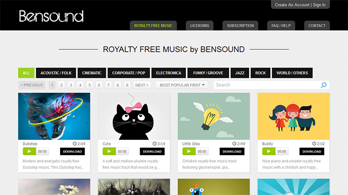 Royalty Free Creative Commons Music