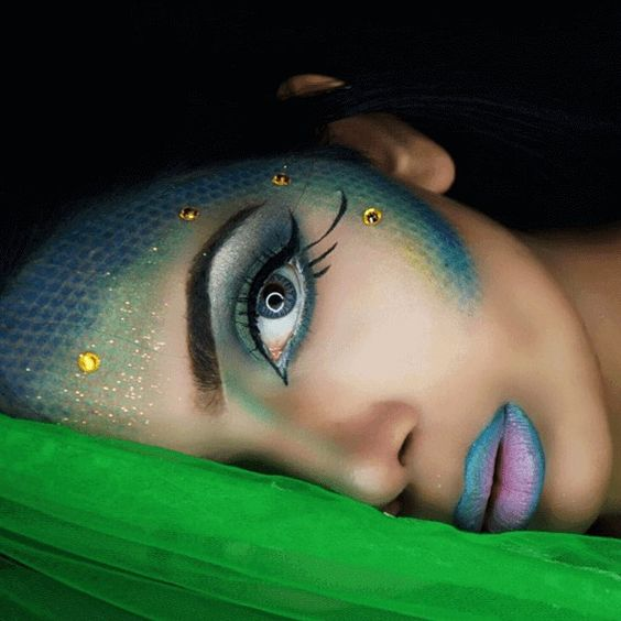 Stunning Mermaid Makeup