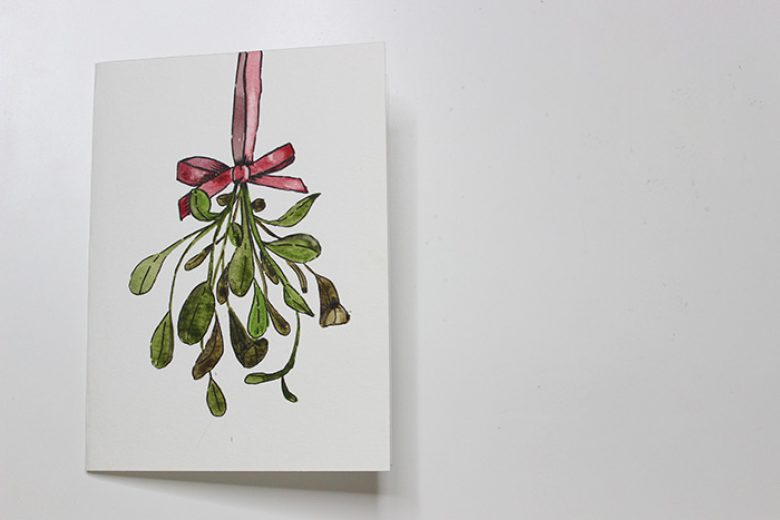 Watercolour Mistletoe Tutorial
