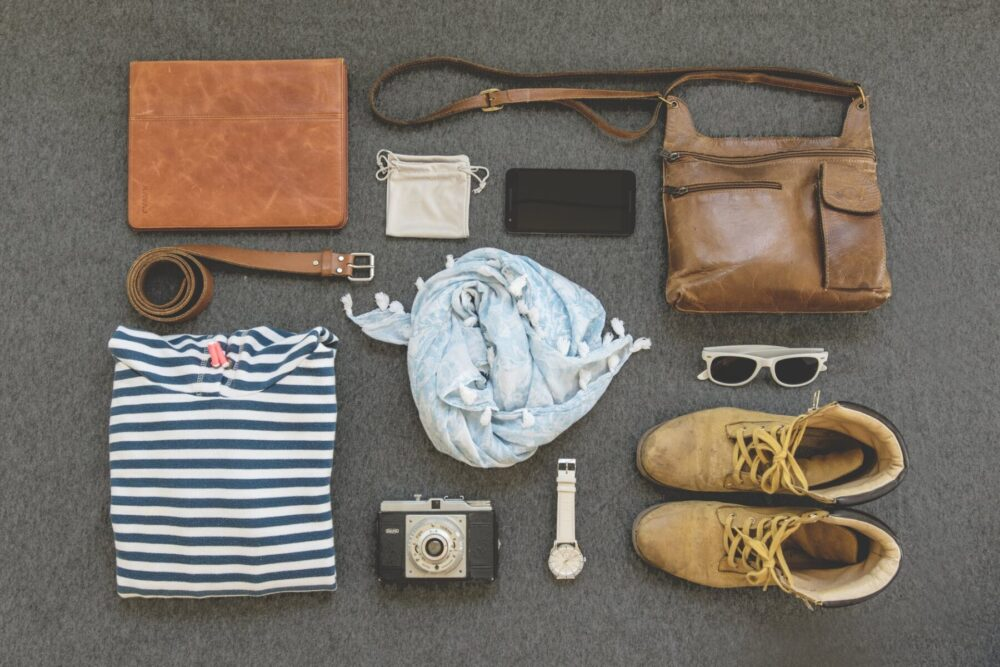 styled clothes flatlay
