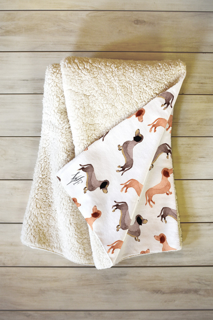 Darling Dachshunds Throw by Wonder Forest