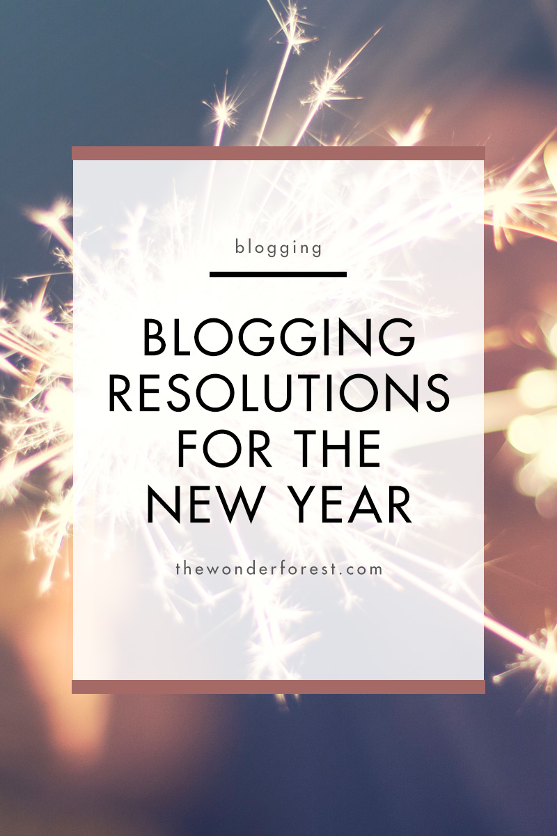 Blogging Resolutions for the New Year
