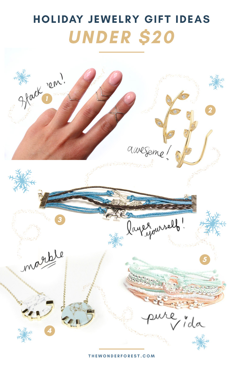 Holiday Jewelry Gift Ideas Under $20