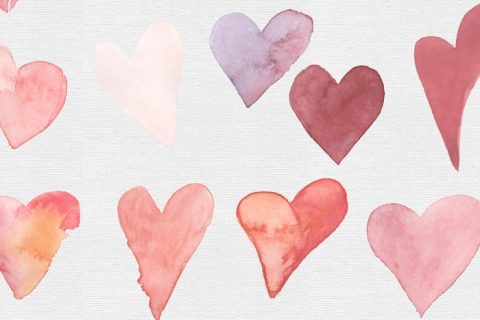 TECH TUESDAY: Watercolour Hearts Clip Art