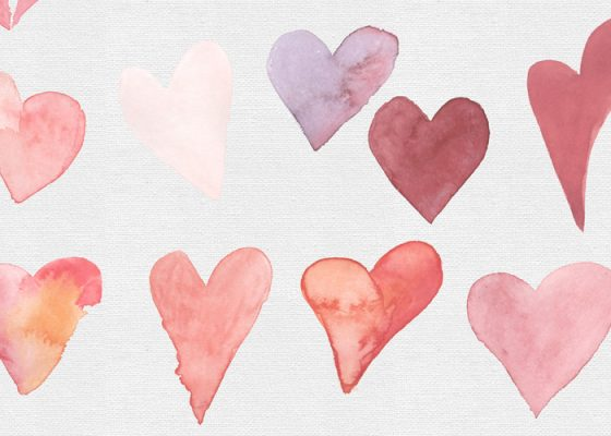 TECH TUESDAY: Watercolour Hearts Clip Art