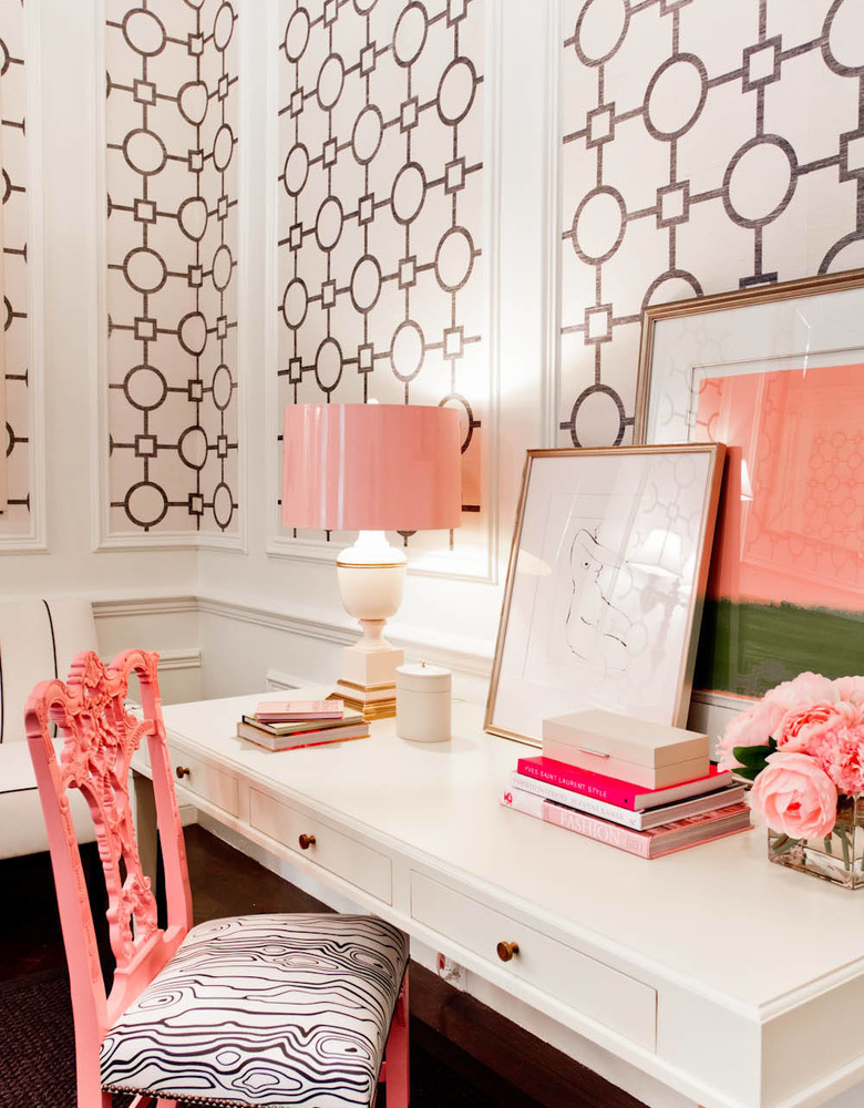 Glam Coral Home Office