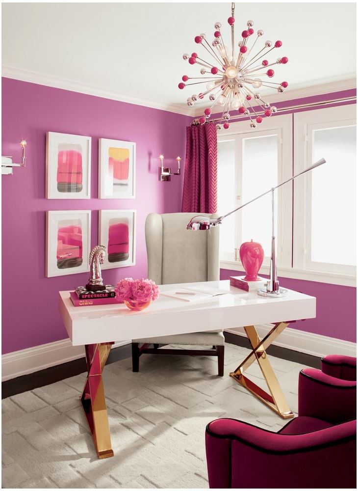 Bright Magenta Home Office