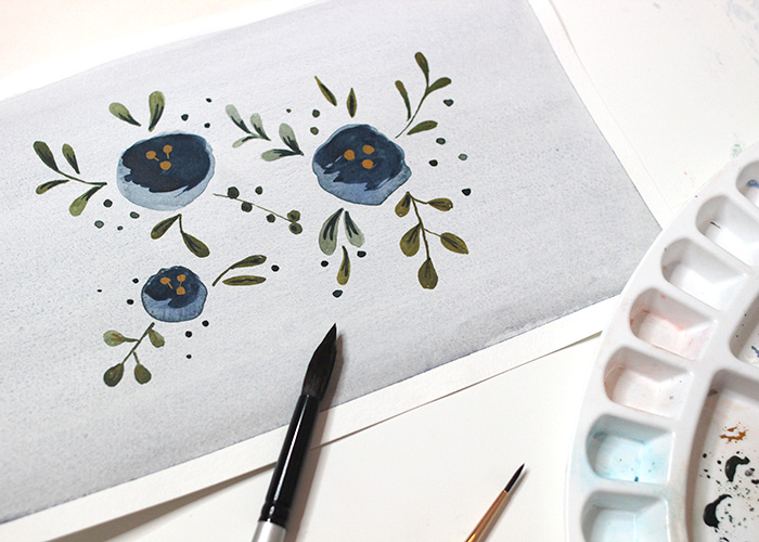 How To Paint Retro Flowers: Watercolour Tutorial