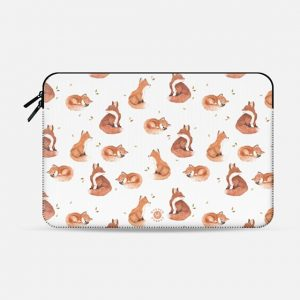 Fancy Foxes Macbook Case by Wonder Forest