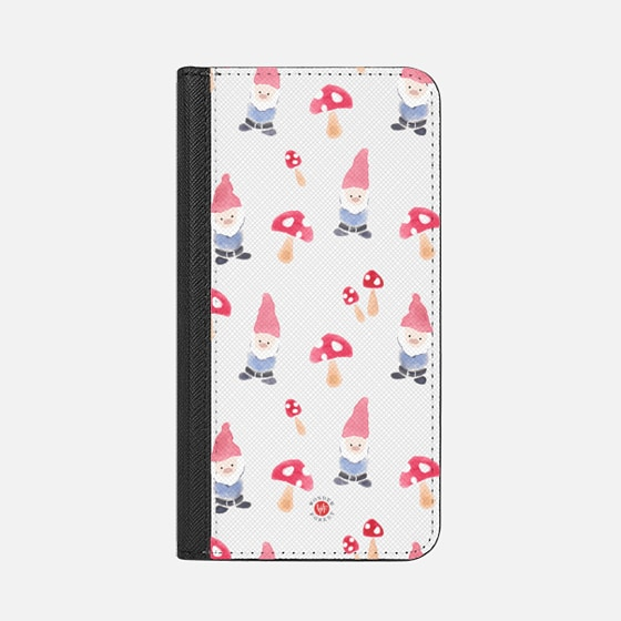 Garden Gnomes Clear Wallet iPhone Case by Wonder Forest